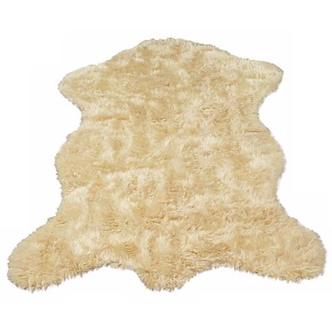 Ivory Sheepskin 061 Faux Fur Area Rug