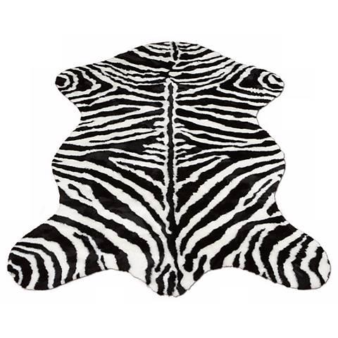 Zebra Stripe 131 Faux Fur Area Rug