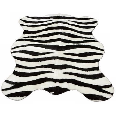 Zebra Stripe 141 Faux Fur Area Rug