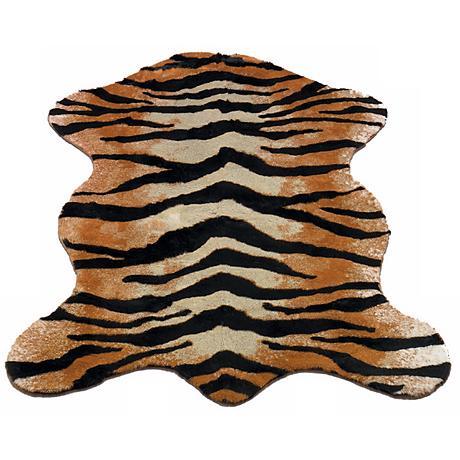 Tiger Stripe 161 Faux Fur Area Rug