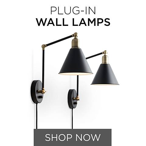 Learn More About Plug-In Wall Lamps
