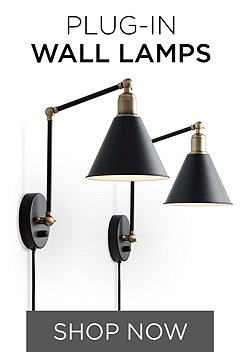 Plug in wall lamp and sconce styles lamps plus aloadofball Gallery