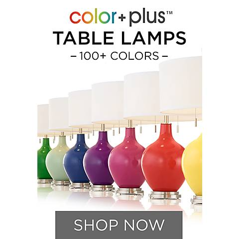 Colorful Table Lamps & More in 150+ Designer Colors