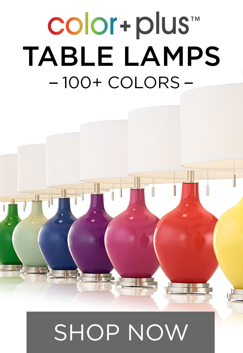 Colorful Table Lamps U0026 More In 150+ Designer Colors