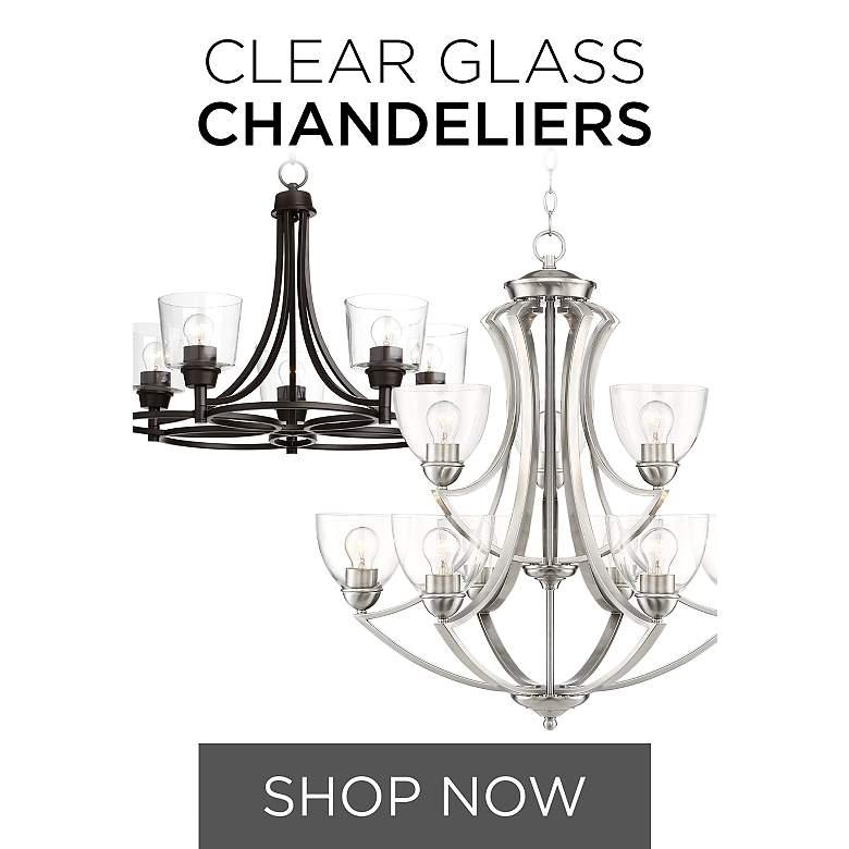 Clear Glass Chandeliers