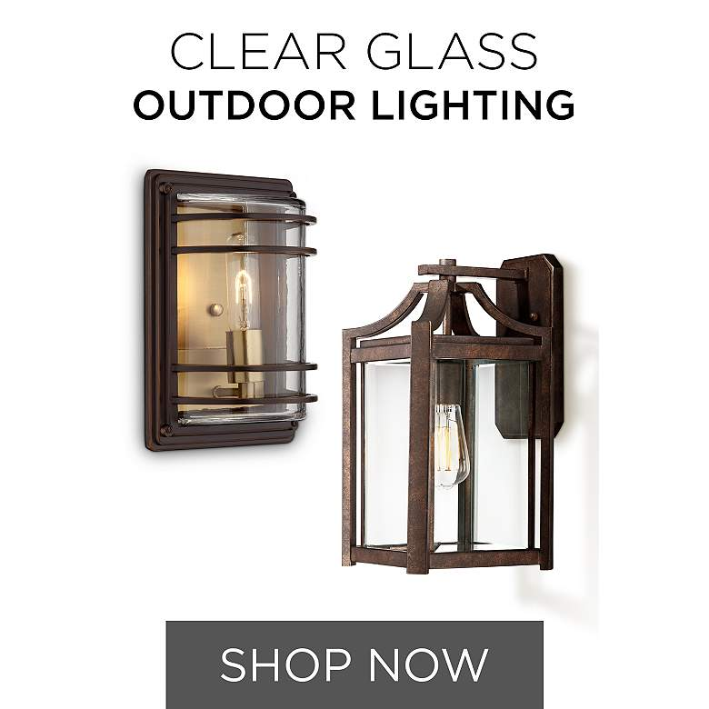 Clear Glass Outdoor Lighting
