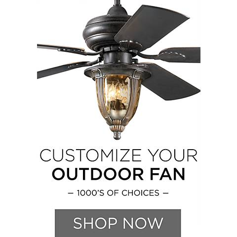 Wet-Rated Ceiling Fans - Dozens of Combinations