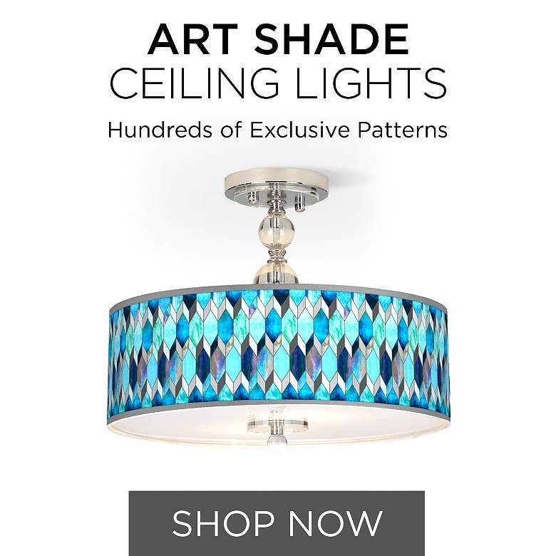 Browse Our Collection of Art Shade Ceiling Lights