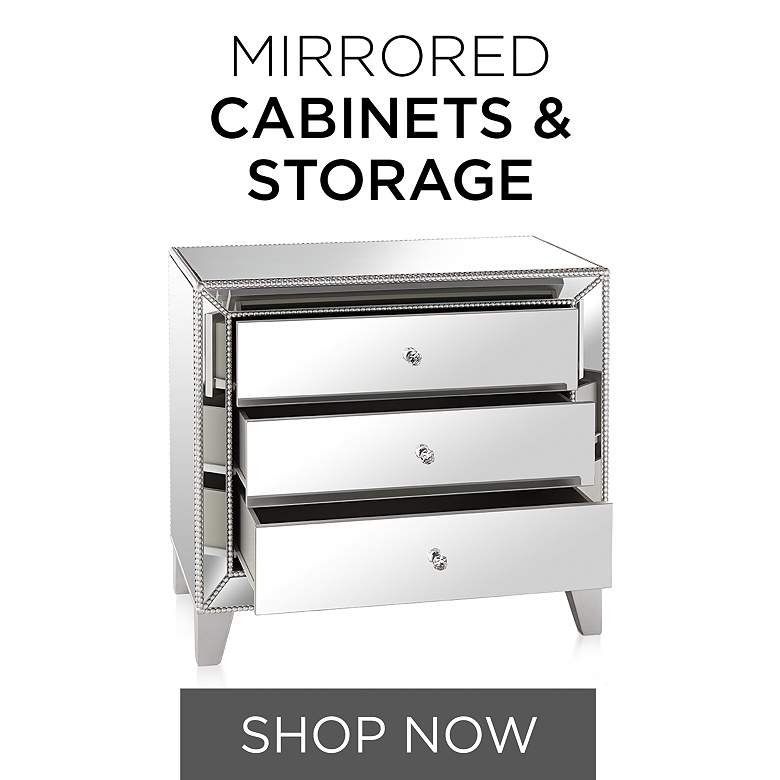 Mirrored Chests and Cabinets