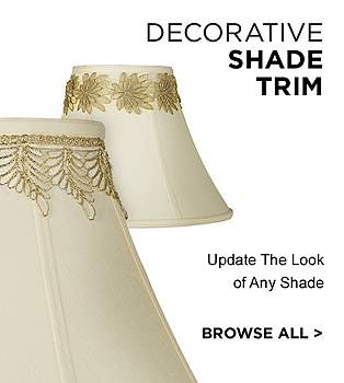 Lamp shades lamps plus decorative lamp shade trim mozeypictures Images