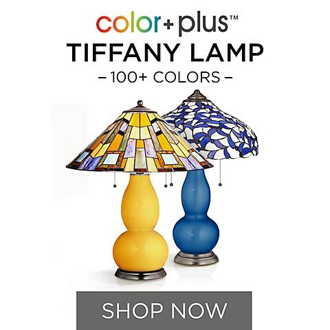 Modern Tiffany Table Lamps with Designer Color Bases