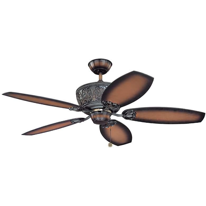"""52"""" Casa Troubadour™ Dark Walnut Ceiling Fan"""
