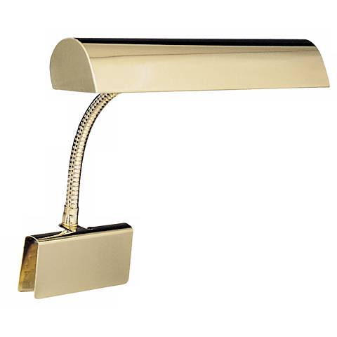 House of Troy Polished Brass Plug-in Grand Piano Lamp