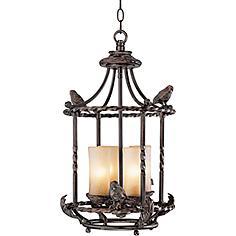 """Song Birds 13"""" Wide Pendant Indoor-Outdoor Chandelier"""
