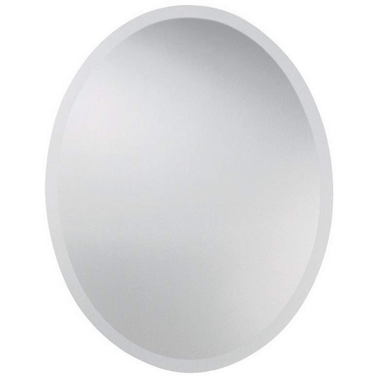 "Uttermost Polished 22"" x 28"" Oval Frameless Wall Mirror"