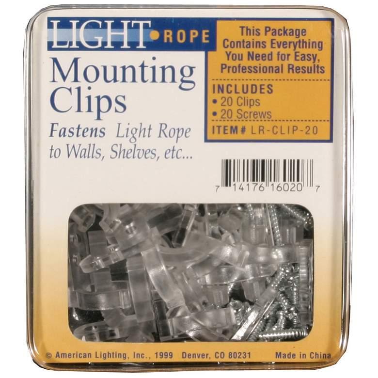 Clark Mounting Clips w/ Screws for LED Flexbrite