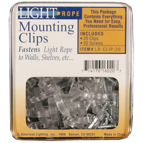 Clark Mounting Clips w/ Screws for LED Flexbrite Rope Light