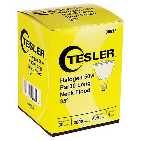 Tesler PAR30 50 Watt Long Neck Halogen Light Bulb