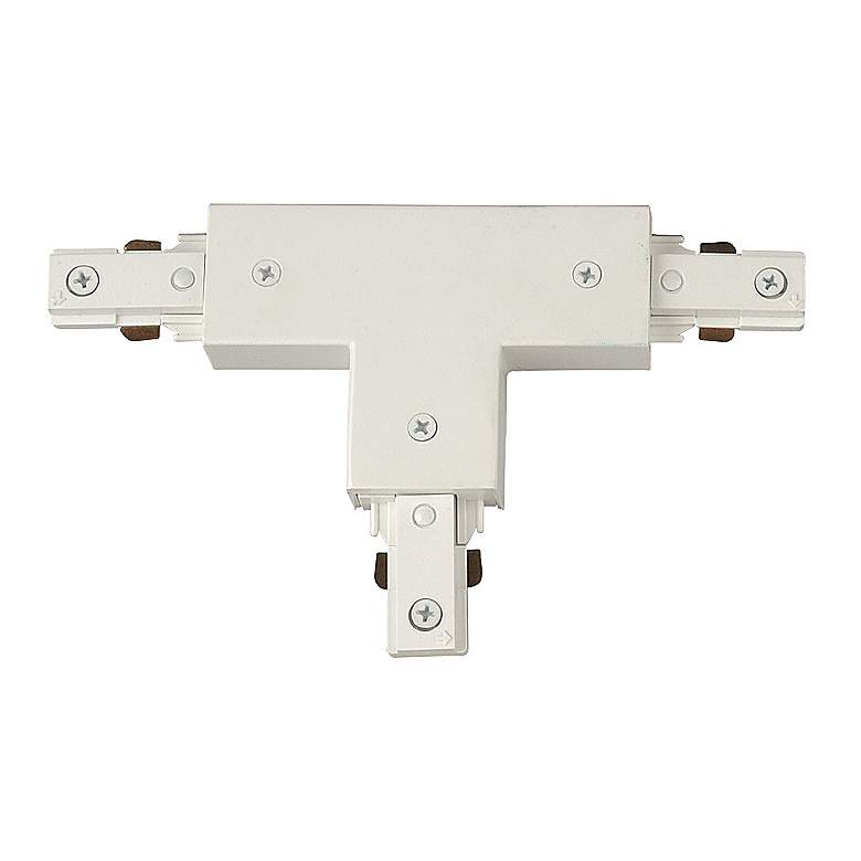 Juno White T-Shaped Track Connector