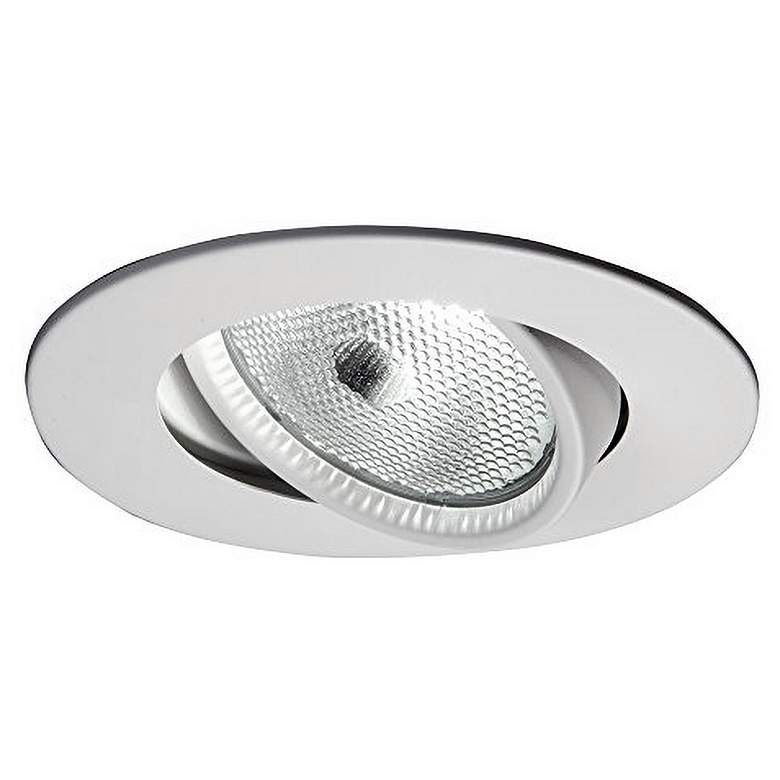 """Halo 5"""" Recessed White Baffle Trim with Adjustable Gimbal"""