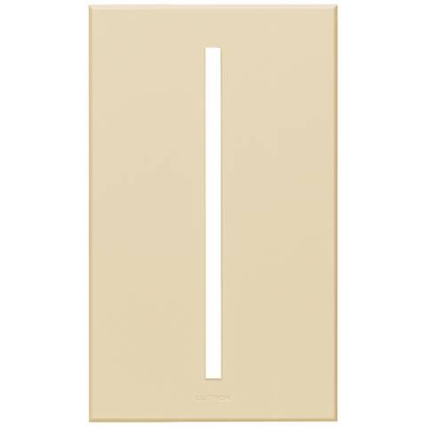 Lutron Vierti Light Almond Single Gang Screwless Faceplate
