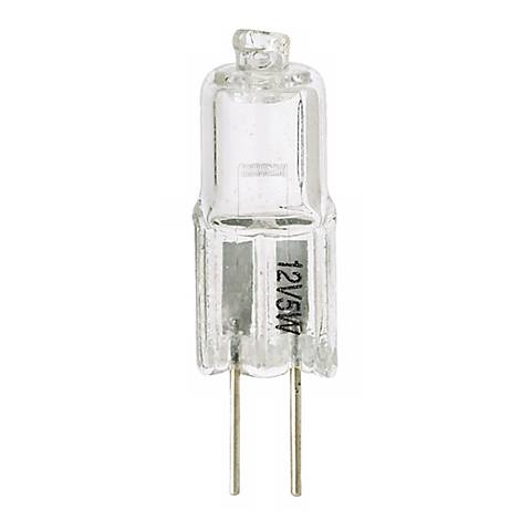 Tesler 5 Watt Halogen G4 Bi-Pin Low Voltage Light Bulb