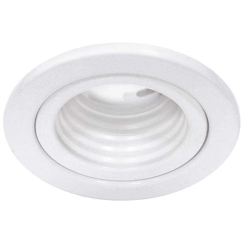 "WAC 2 1/2"" White Low Voltage Step Baffle Recessed Trim"