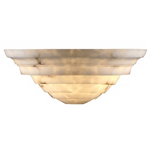 Faux Alabaster Supreme Wall Sconce