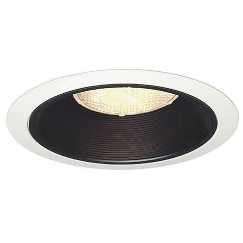 juno 6 line voltage blanc black baffle recessed light trim 02483