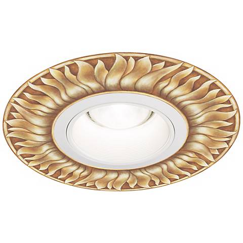 "Juno 6"" White Metal Recessed Trim with Florentine Medallion"