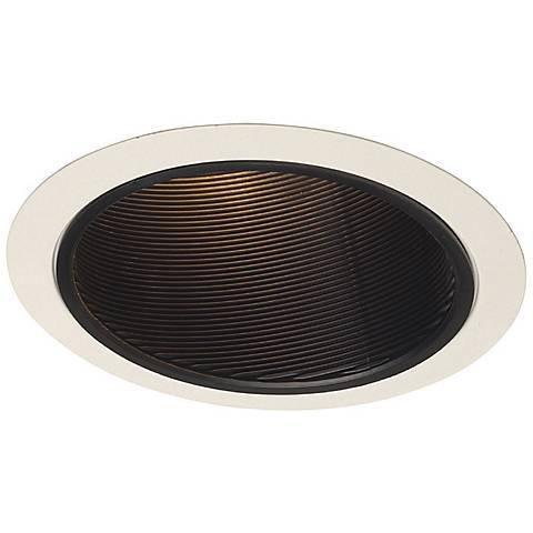 """Juno 6"""" Line Voltage Black Baffle Sloped Recessed Light Trim"""