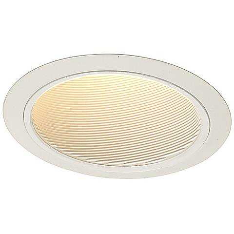 "Juno 6"" Line Voltage White Baffle Sloped Recessed Light Trim"