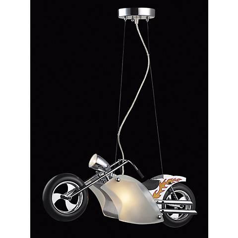 Flame Chopper Motorcycle Pendant Chandelier