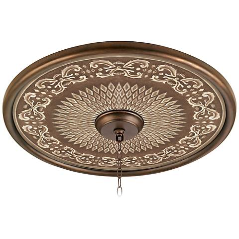 "Aged Verona 24"" Giclee Bronze Ceiling Medallion"