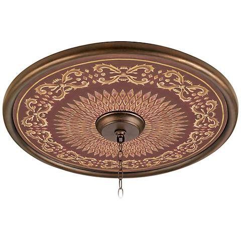 "Rustic Verona 24"" Giclee Bronze Ceiling Medallion"