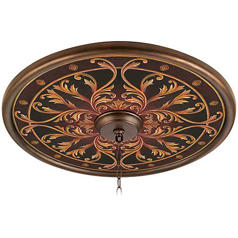 "Tracery Jewels 24"" Wide Bronze Finish Ceiling Medallion"
