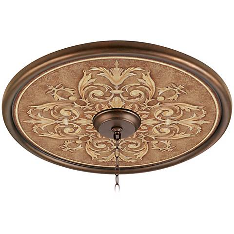 "Antiquity Clay 24"" Wide Bronze Finish Ceiling Medallion"
