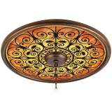 "Madrid Spice 24"" Wide Bronze Finish Ceiling Medallion"