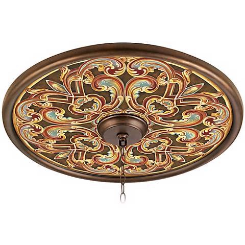 "Etruscan Scroll 24"" Giclee Bronze Ceiling Medallion"