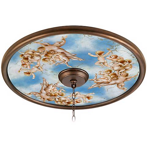 Celestial 24 Quot Wide Bronze Finish Ceiling Medallion