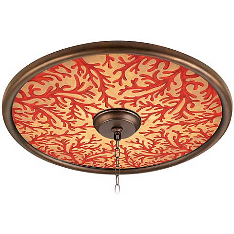 "Coral on Gold 24"" Wide Bronze Finish Ceiling Medallion"