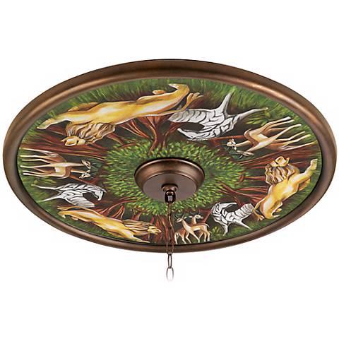 "Wild Forest 24"" Wide Bronze Finish Ceiling Medallion"