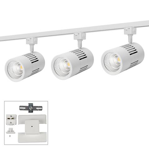 3-Light White 12W LED Floating Canopy Track Kit