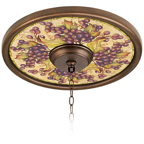 "Tuscan Grapes 16"" Wide Bronze Finish Ceiling Medallion"