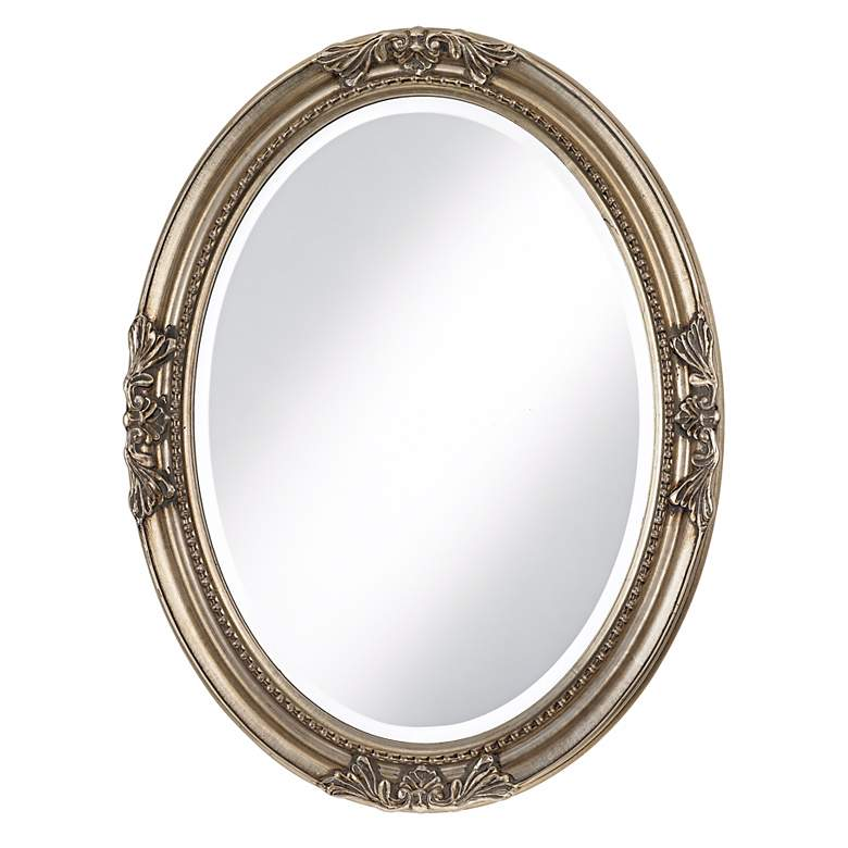 """Emma Antique Silver 25"""" x 33"""" Oval Wall"""