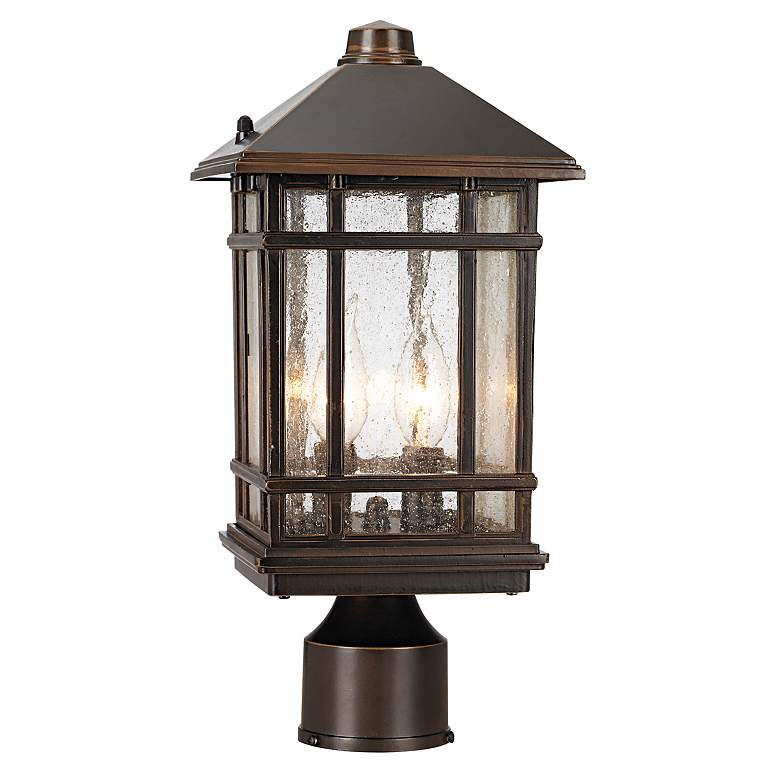 "J du J Sierra Craftsman 14"" High Outdoor Post Mount Light"