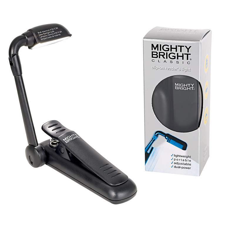Mighty Bright Clip-On Black Book Reading Light