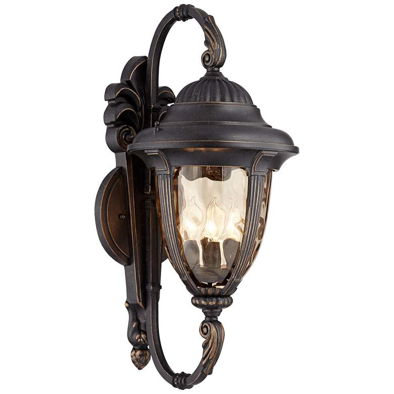 """Bellagio™ 27 1/2"""" High Double Arm Outdoor Wall Light"""