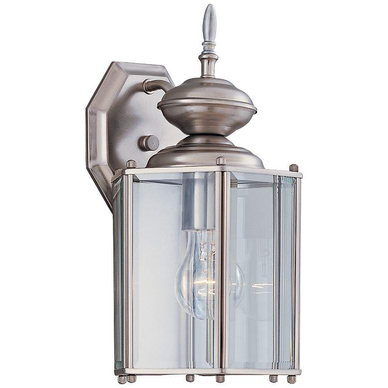 "Carriage House 13""H Open Cage Pewter Outdoor Wall Light"