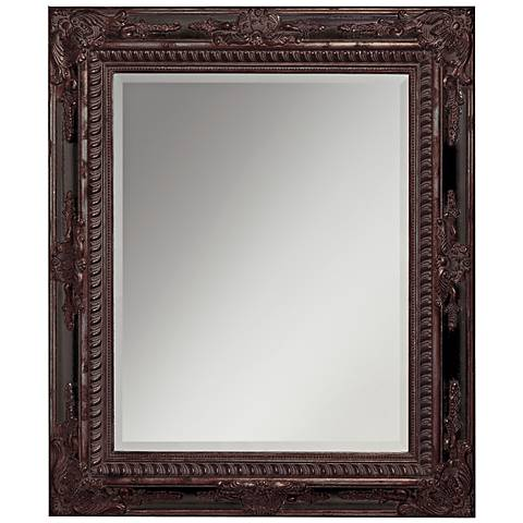 "Jerome Bronze and Black Details 37"" High Wall Mirror"
